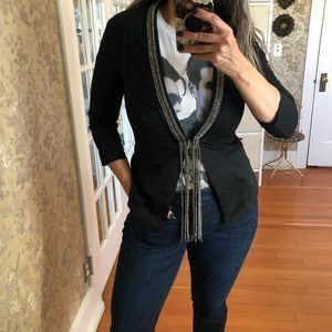 Glam Rock Black Rhinestone Blazer